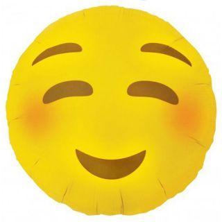 Balon folie 45cm EMOJI Zambet Imbujorat, Northstar Balloon