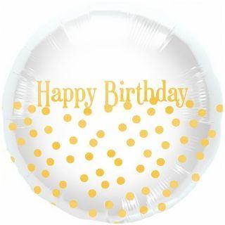 Balon folie 45cm Happy Birthday Dots, Northstar Balloons