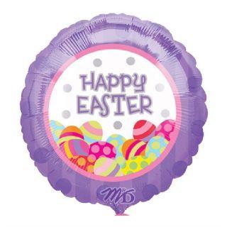 Balon folie 45cm Happy Easter Oua, Amscan