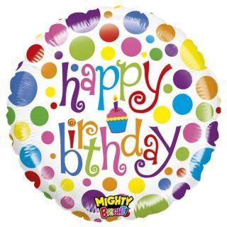 Balon Folie 53 cm Happy Birthday Buline, Radar