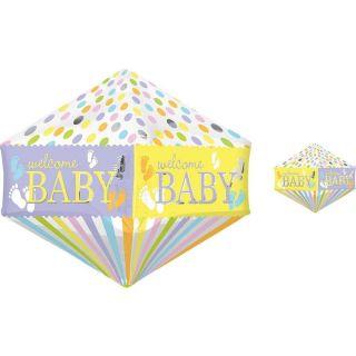 Balon Folie Anglez Welcome Baby - 43 x 53 cm, Amscan