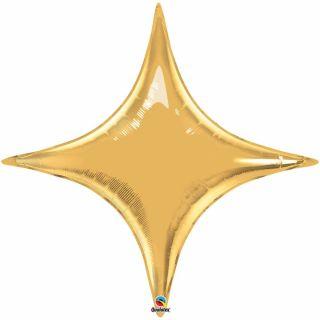 Balon Folie Auriu Metalizat Starpoint - 50 cm, Qualatex 22917, 1 buc