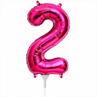 Balon folie cifra 2 magenta - 41cm, Northstar Balloons 59065