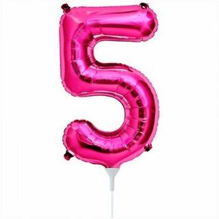 Balon folie cifra 5 magenta - 41cm, Northstar Balloons 00447