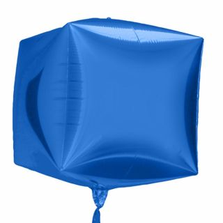 Balon folie cubez 3D albastru - 45cm, Northstar Balloons