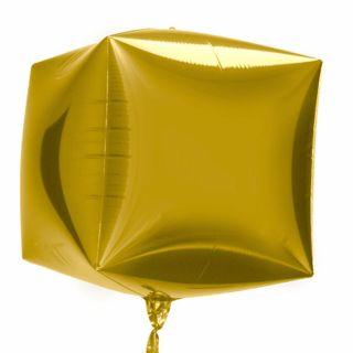 Balon folie cubez 3D auriu - 45cm, Northstar Balloons
