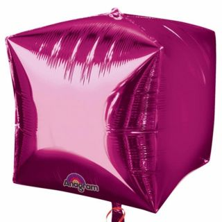 Balon folie cubez 3D magenta - 45cm, Northstar Balloons