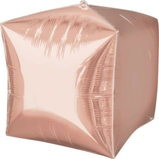 Balon folie cubez Rose Gold - 38 x 38 cm, Amscan 36183