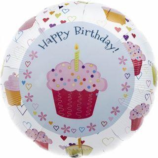 Balon folie Cupcake Happy Birthday - 45cm, Northstar Balloons