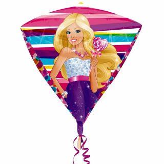 Balon folie diamonds Barbie - 38x43cm, Amscan 2845501