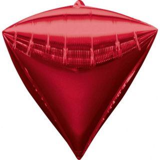 Balon folie diamondz Rosu - 38 x 43 cm, Radar