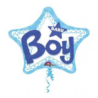 Balon Folie Figurina 81 cm Stea Baby Boy, Anagram 30922, 1 buc