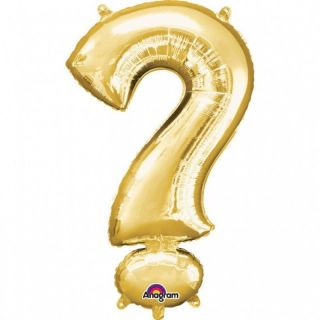 "Balon Folie Figurina Auriu ""?""- 27 x 40 cm, Amscan 33073"
