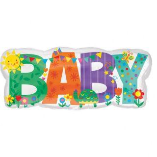 Balon Folie Figurina Baby - 83 x 35cm, Amscan 35591