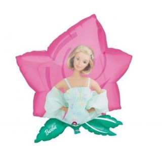Balon folie figurina Barbie Floare - 59x63cm, Amscan 06626