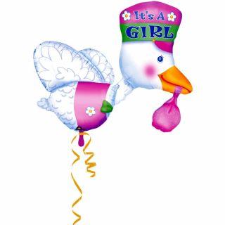 Balon folie figurina Barza - Este Fetita 58 x 81 cm, Amscan 07026