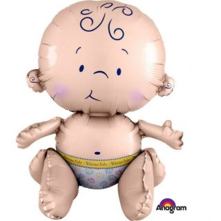 Balon folie figurina bebelus - 33 x 38 cm, Amscan 35202