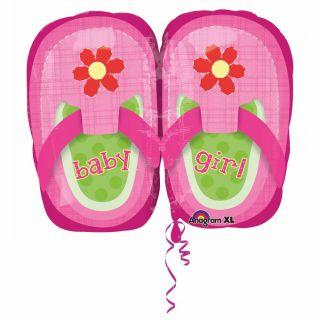Balon folie figurina botosei roz Baby Girl - 53 cm, Amscan 28815