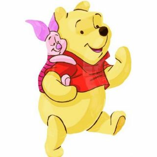 Balon folie figurina Disney Winnie the Pooh si prietenii - 81cm, Amscan 22924