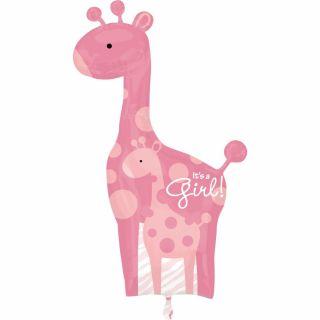 Balon folie figurina girafa Baby Girl, Amscan 25181