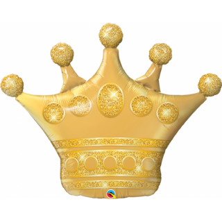 Balon Folie Figurina Golden Crown - 104 cm, Qualatex 49343