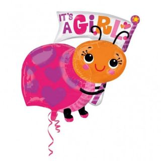 Balon folie figurina It's a girl, 63 x 81cm, Amscan 33659