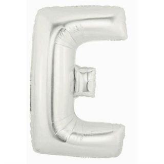 Balon Folie Figurina Litera E Argintiu - 81 cm, Amscan 32954
