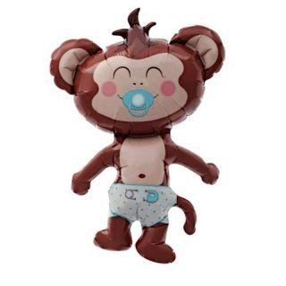 Balon folie figurina Maimutica baietel, Northstar Balloon 00342