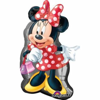 Balon folie figurina Minnie - 48x81cm, Amscan 26374