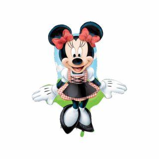 Balon folie figurina Minnie Mouse Dirndl - 95cm, Amscan 27390