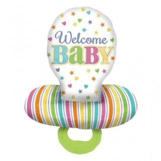 Balon folie figurina Suzeta Welcome Baby- 55 x 73cm, Amscan 30952