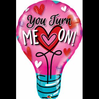 "Balon Folie Figurina You Turn Me On 40""/102 cm, Q 46052"