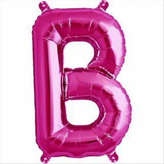 Balon folie litera B magenta - 41cm, Northstar Balloons 00506