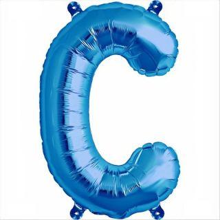 Balon folie litera C albastru - 41 cm, Qualatex 59386