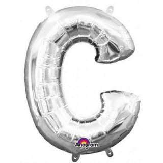 Balon Folie Litera C Argintiu - 41 cm, Amscan 33015
