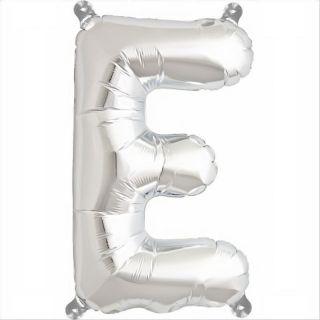 Balon folie litera E argintiu - 41cm, Northstar Balloons 00483