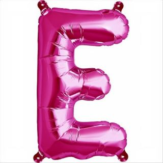 Balon folie litera E magenta - 41cm, Qualatex 59556