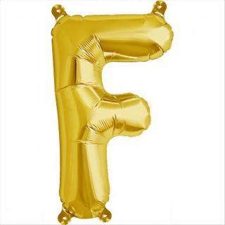 Balon folie litera F auriu - 41cm, Northstar Balloons 00572