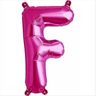 Balon folie litera F magenta - 41cm, Northstar Balloons 00510