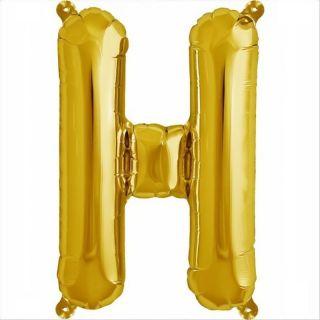 Balon folie litera H auriu - 41cm, Northstar Balloons 00574