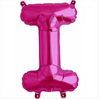 Balon folie litera I magenta - 41cm, Northstar Balloons 59564