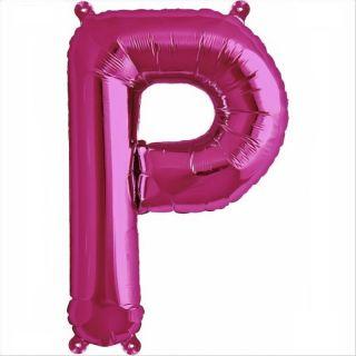Balon folie litera P magenta - 41cm, Northstar Balloons 00520