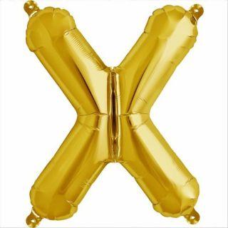 Balon folie litera X auriu - 41cm, Northstar Balloons 00590