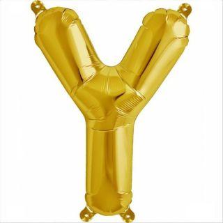 Balon folie litera Y auriu - 41cm, Amscan 33061