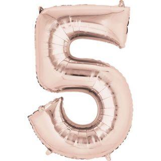 Balon Folie Mare Cifra 5 Rose Gold - 91 cm, Amscan 36216