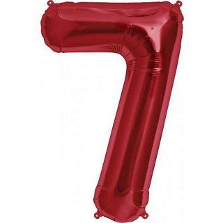 Balon folie mare cifra 7 rosu - 86cm, Amscan 28292