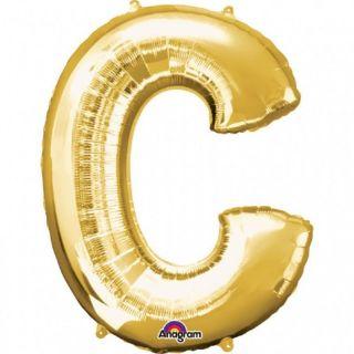 Balon Folie Mare Litera C Auriu - 81 cm, Amscan 32951