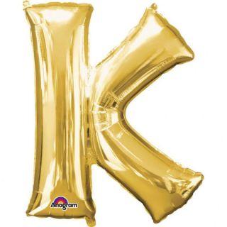Balon folie mare litera K auriu - 86 cm, Amscan 32968
