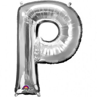 Balon Folie Mare Litera P Argintiu - 81 cm, Amscan 32977