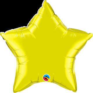 Balon folie metalizat stea citrine yellow - 50cm, Qualatex